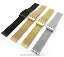 Changeable Metal Milanese Watch Straps Adjustable Metal Clasp Stainless Steel Mesh Watch Band
