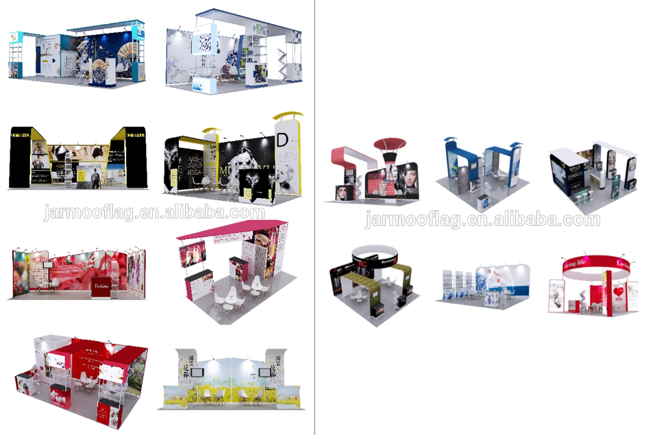 Lightweight Exhibition Stand Quick To Set Up Portable Display Wall For 4x6 Booth