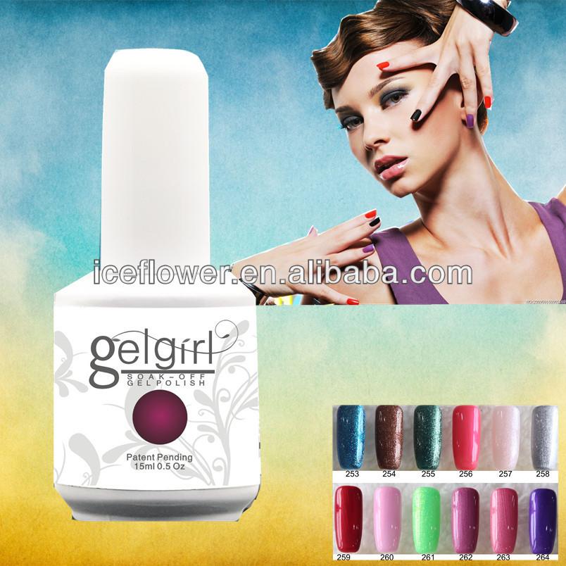 GELGIRL nail gel polish 6pcs soak off HY 300 colors gel lacquer UV LED Long lasting