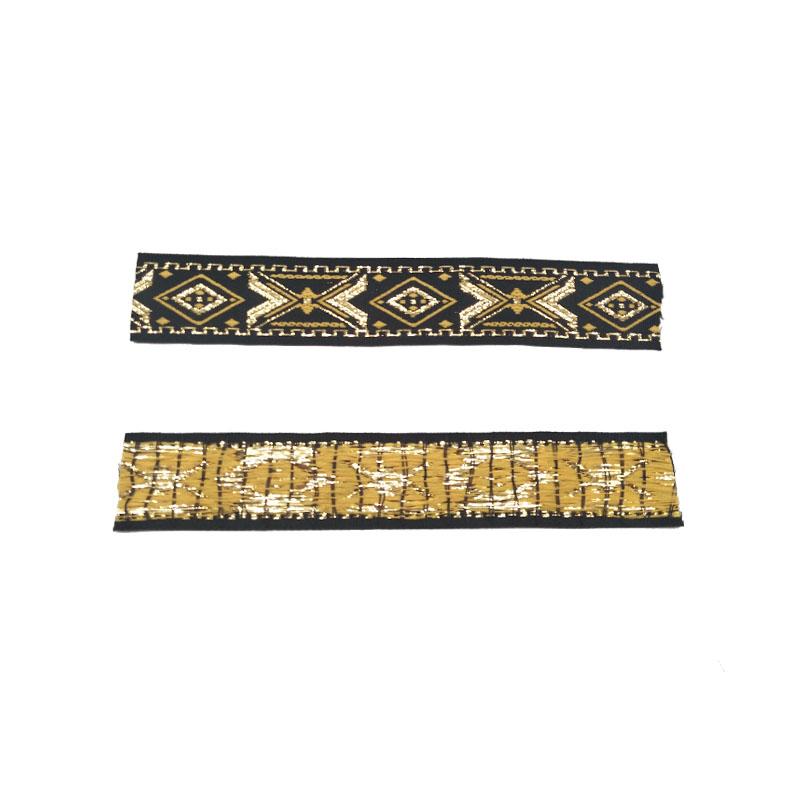 3センチ広いカスタムナイロン式ゴールド色グログランリボン卸売価格