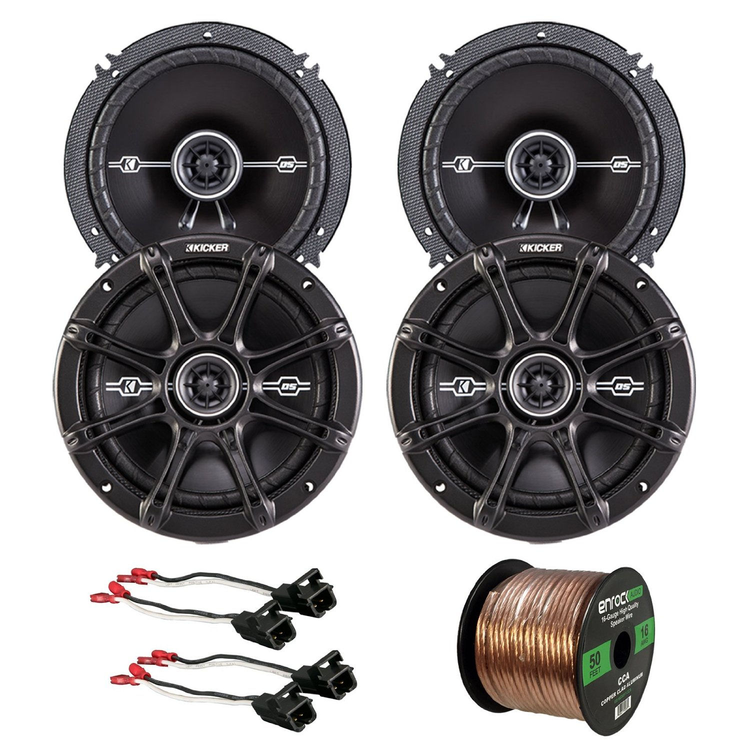 "Get Quotations · Car Speaker Bundle Combo: 2 Pairs of Kicker 43DSC6504 6.5""  Inch 480 Watts 2"