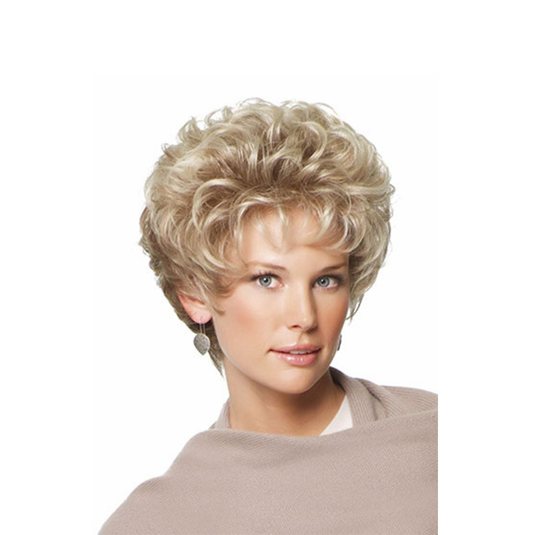 Get Quotations · Medusa wig Classic Pixie Synthetic wigs Short Curly hair Blonde  wigs for women Peruca loira curta 9b7250a910