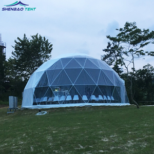 10m Steel Structure Camping Dome Tent With 850g Pvc Wall