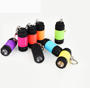 Waterproof New Pocket Torch Mini USB Rechargeable Led Keychain flashlight