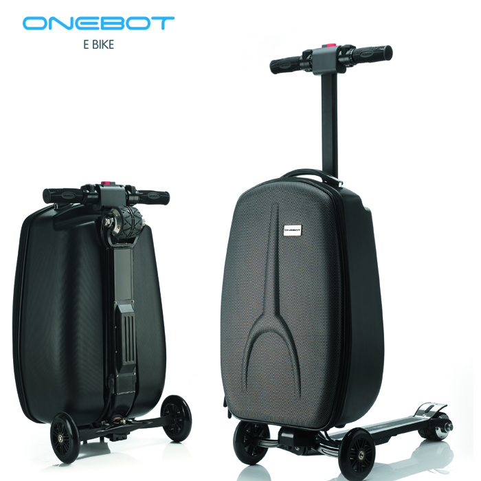 2017 hotsale 20 inch trolley suitcase folding electric luggage scooter for business travel