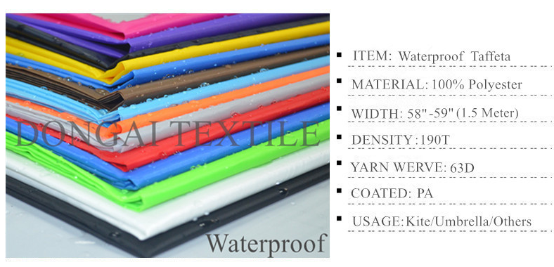 Polyester Taffeta Waterproof fabric for kite and umbrella fabric