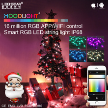 Best selling christmas items!Smart personalized christmas ornaments WIFI APP christmas decoration light