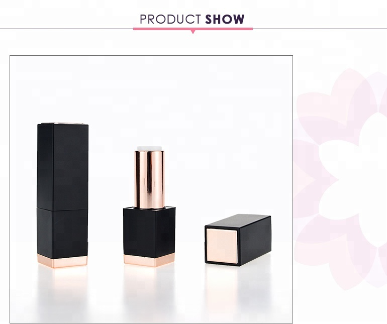Square cosmetic packaging magnet lipstick case with any color