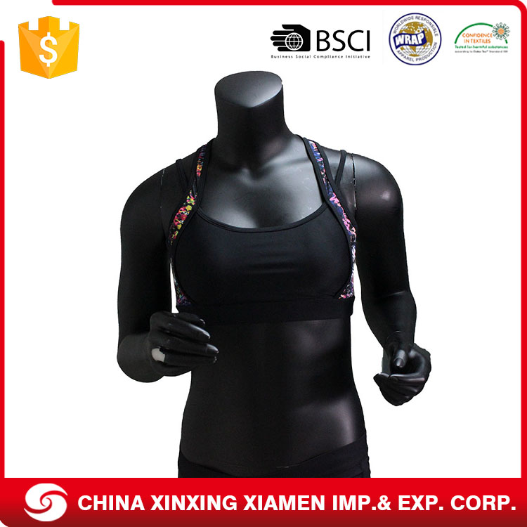 Various Colors Cheap Wholesale Custom Made Plus Size Ladies Sports Bra
