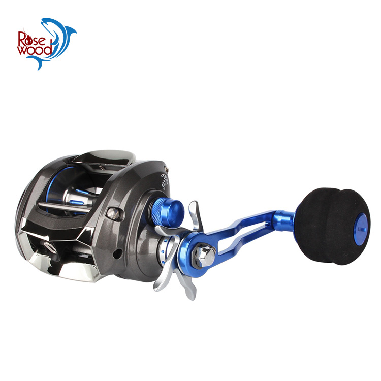RoseWood jigging trolling fishing reel saltwater big game baitcasting reel low profile wheels