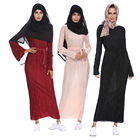 Zakiyyah 1208 New Arrival Arabic Caftan Long Dress with belt Hot sales Simple three Colored Muslim Abaya