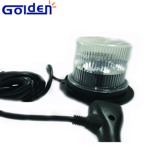 DC 12V 24V Road construction Car surface magnetic mount clear lens led flashing beacon light