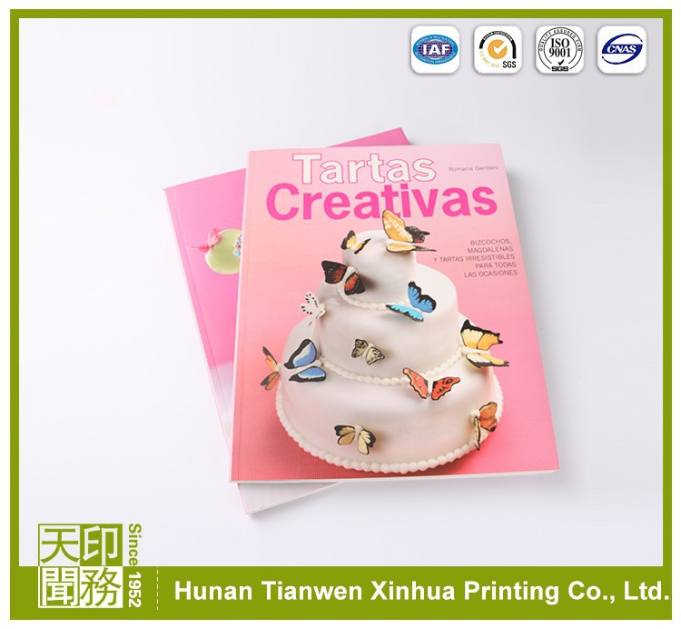 Kitchen Accessories custom design photo quality cooking book printing