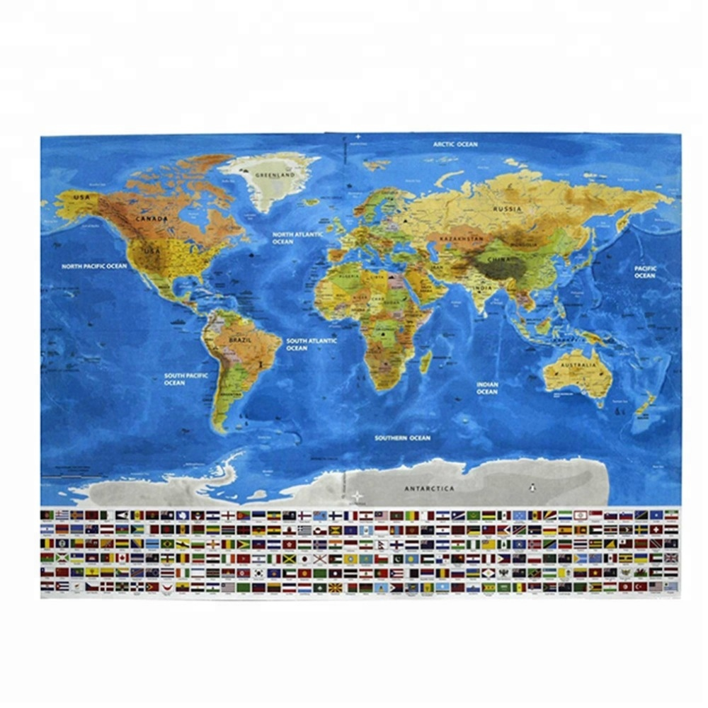 World Poster Map Selling Stylish Deluxe Scratch Off Map Excellent Perfect