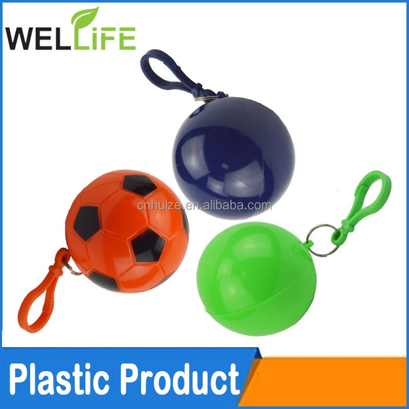 factory wholesale Hot Promotion disposable waterpoof ball packed PE raincoat rain cape poncho with keychain