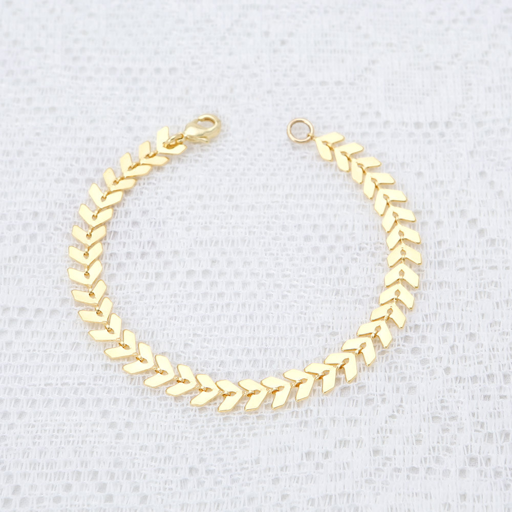 gold new mens simple bracelet hot made buy link product design detail