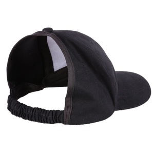 Black Women Cap Empty Top Hat Outdoor Elastic Back Baseball Cap