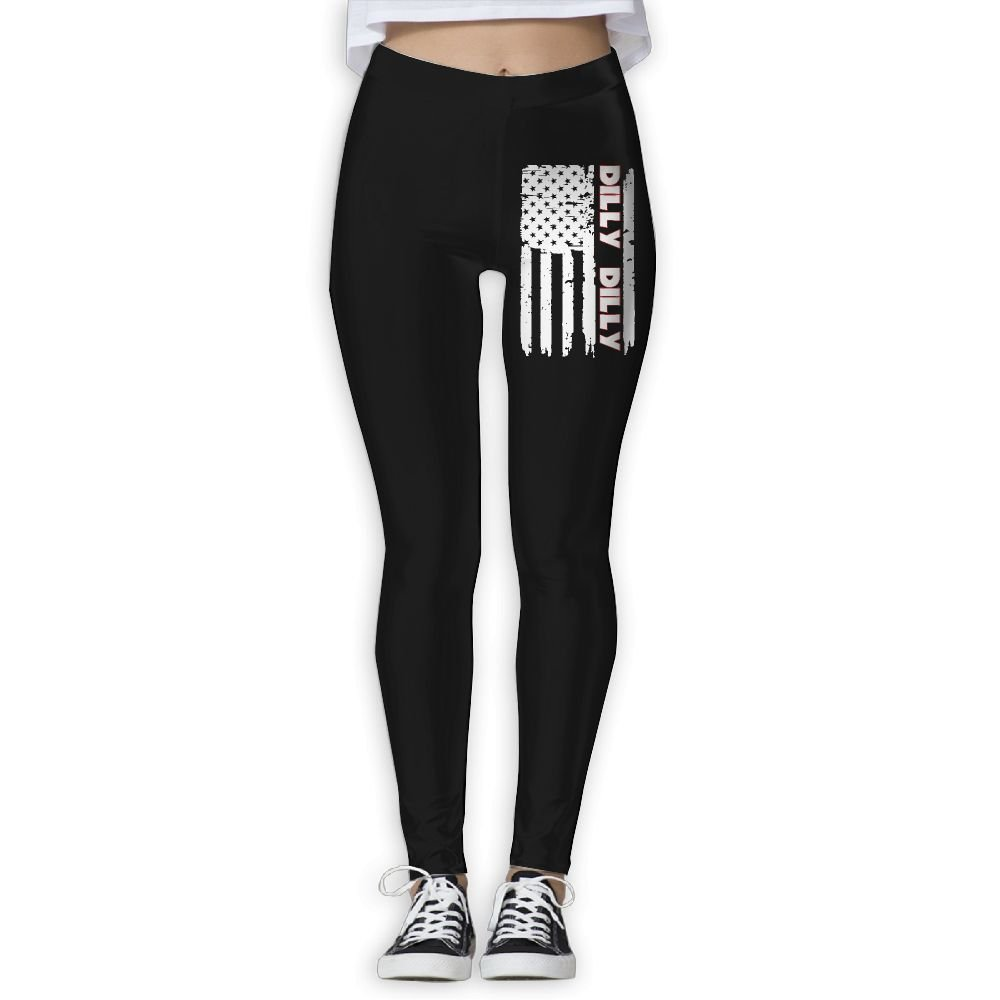 DDCYOGA Dilly Dilly Flag Women's Tummy Control Yoga Leggings Exercise Gym Jogger Pants For Women