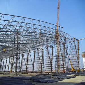 Design Prefabricated Frame Portal space frame steel structure bolt joint structure