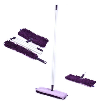 MICROMILL Wholesale Home Cleaning Tools Microfiber Flat Mop with Bendable Duster Super Microfiber Cleaning Mop Set with Duster