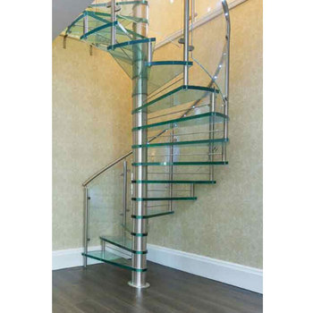 Hot Sell Stainless Steel Glass Spiral Staircase Used Spiral Staircase