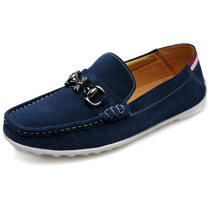 2015 New Men Loafers Casual Moccasin Breathable Slip On Driving Shoes Casual Man Flats Zapatillas Zapatos Hombre Blue Size 38-43