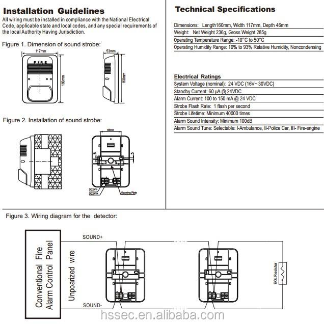 Fire Alarm Horn Strobe Wiring Diagram Gm Wire Trailer Wiring