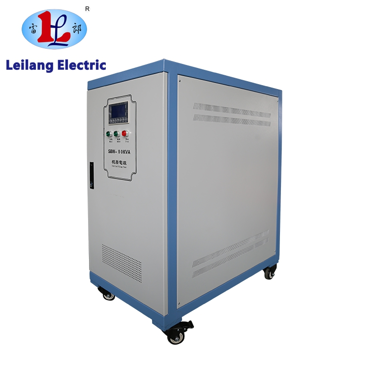 Three phase 100kva voltage stabilizer manufactured by Leilang with CE And ISO9001