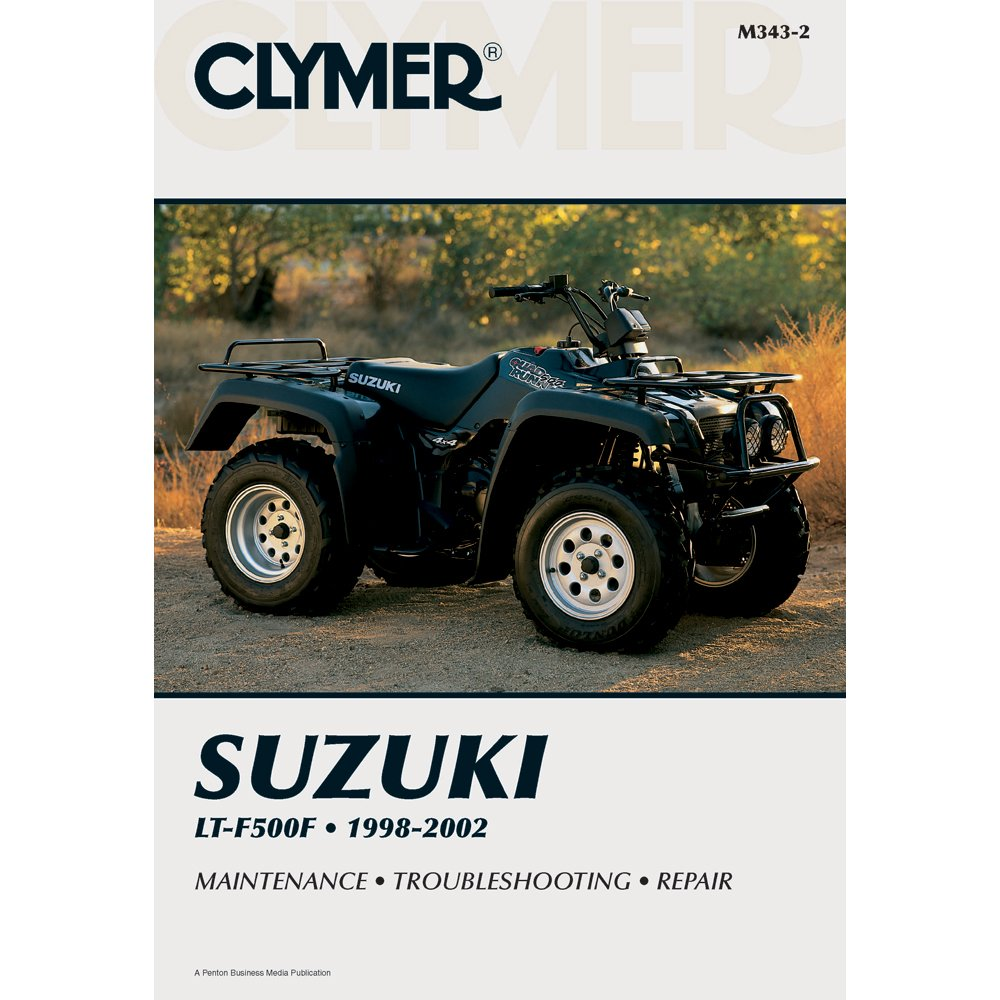 Get Quotations · 1998-2002 CLYMER SUZUKI ATV LT-F500F SERVICE SHOP MANUAL  M343-2