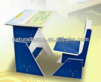 Kids Furniture Solid Wood Cartoon Study Table And Chair Set Wooden Reading  Writing Tables And Chairs