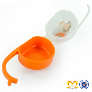 Plastic boxes small clear,Cartoon monkey and lion printing orange color portable safe box,baby pacifier case