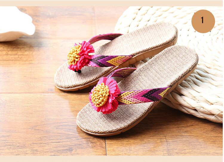 5eea2a5c60d85 men 2 colors 1 1 1 1 1. Click here!! 2016 New Lovers Women Men Slippers  Flower Flax Slippers Indoor Shoes Non-Slip Flip Flops High Quality Large  Size ...