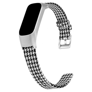 Metal Frame Nylon Canvas Watch Band Strap for Galaxy Fit E Wristwatch Accessories