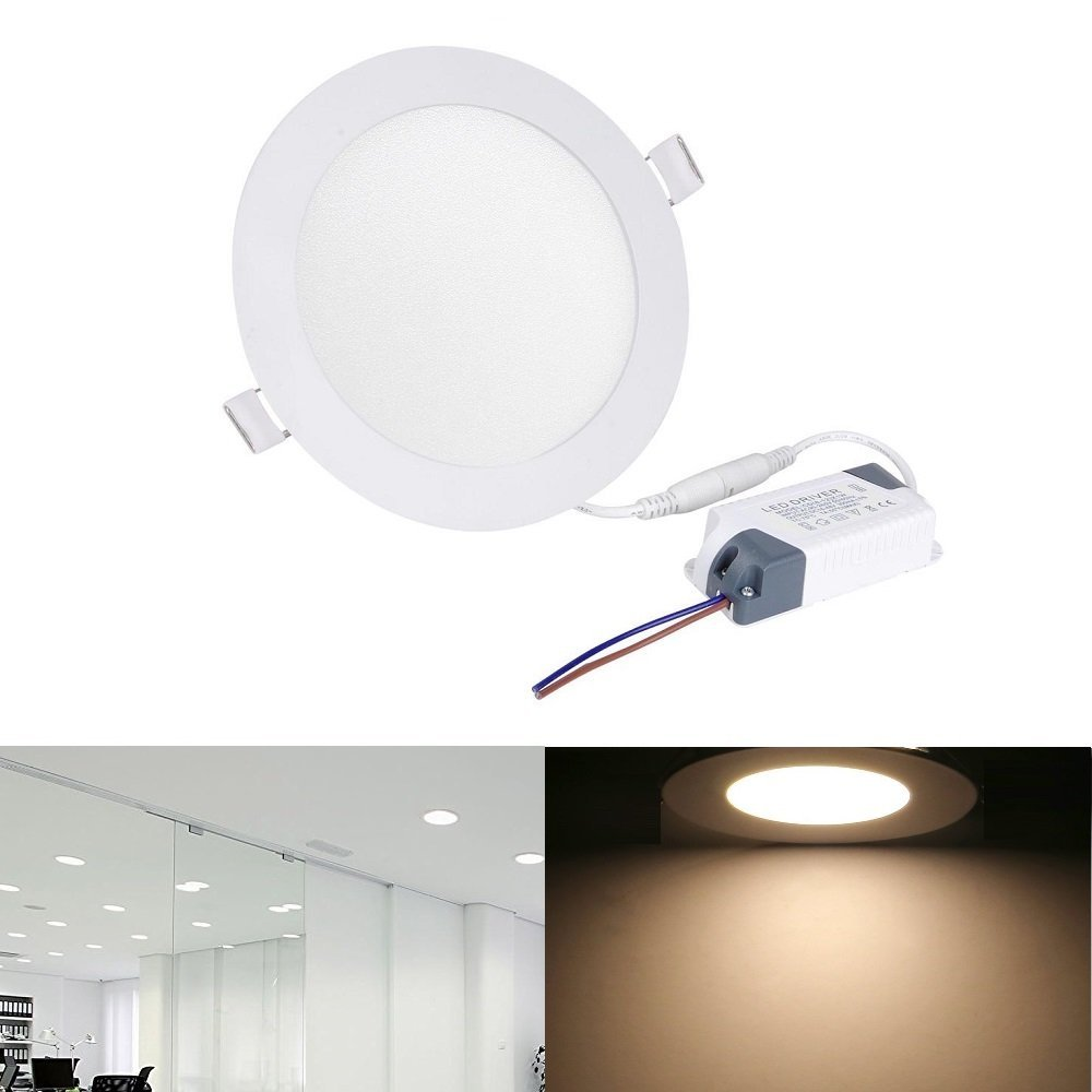 Light Zoopod 12w 4-inch LED Panel Lights Ultra Thin Ceiling Recessed Lighting for Home