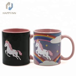 High quality license design magic pink color changing mug