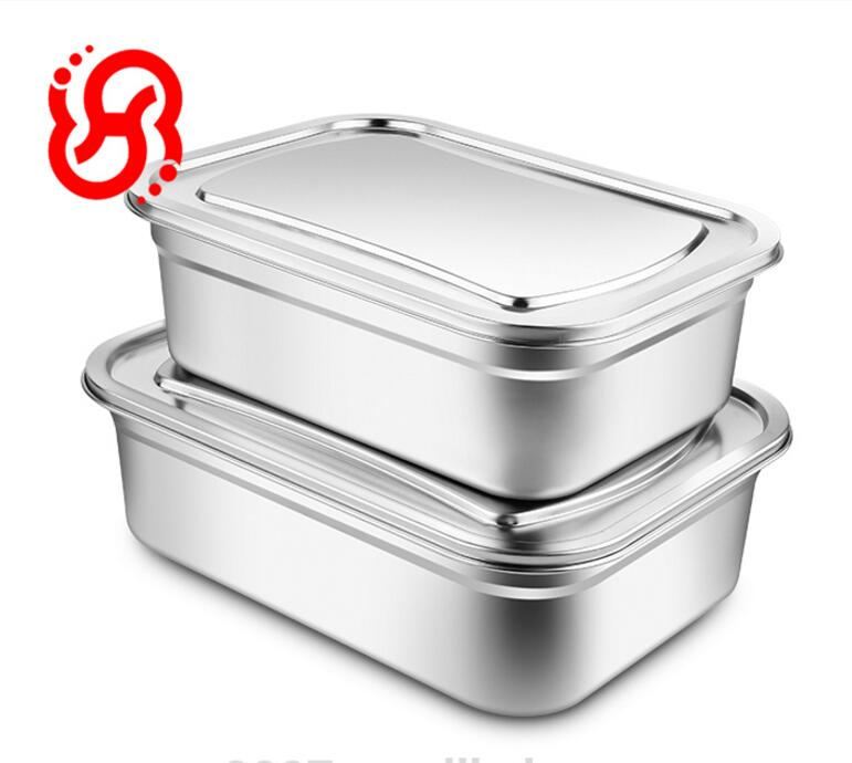 Korea Stainless Steel Kitchenware Food Storage Kimchi Container Box