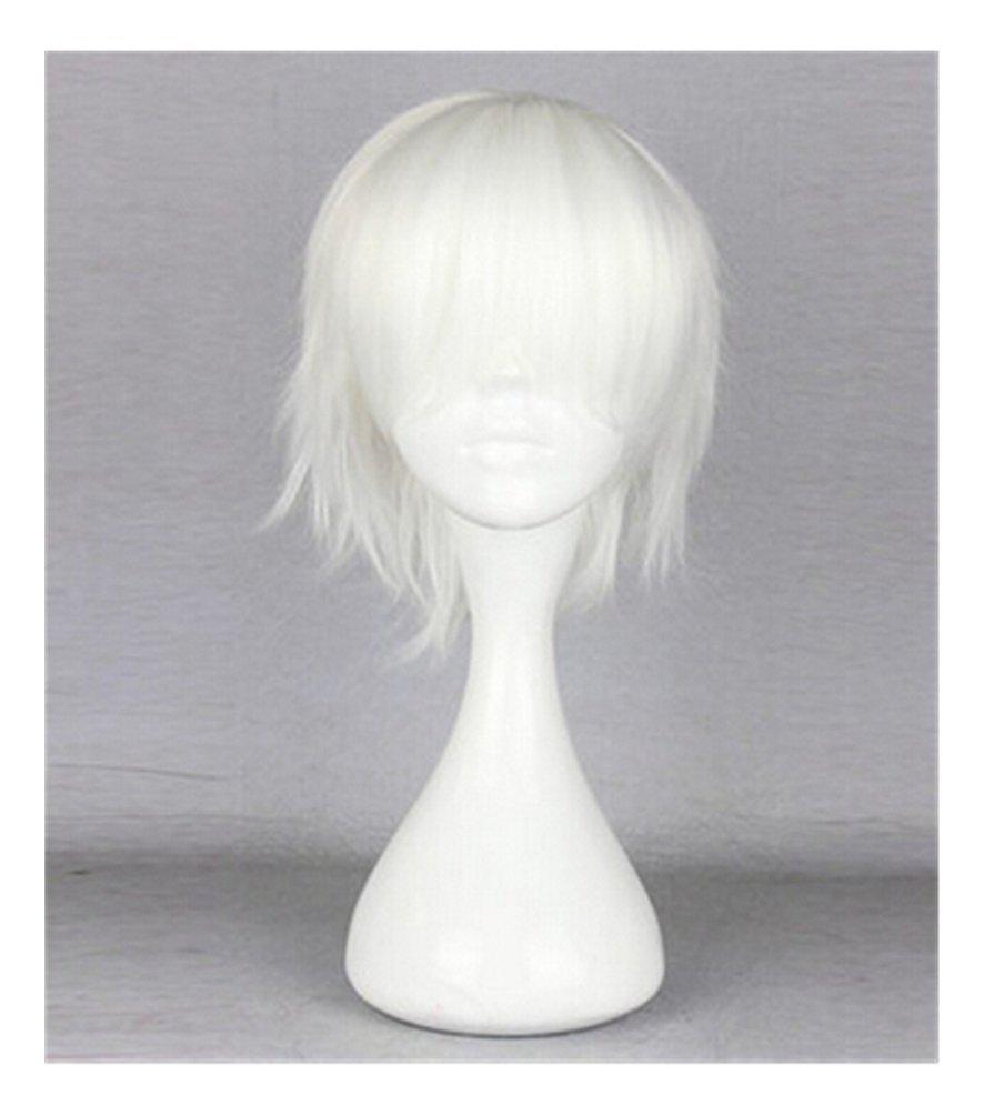 Buy Kadiya Cosplay Wig White Short Boy Anime Show Halloween Hair In