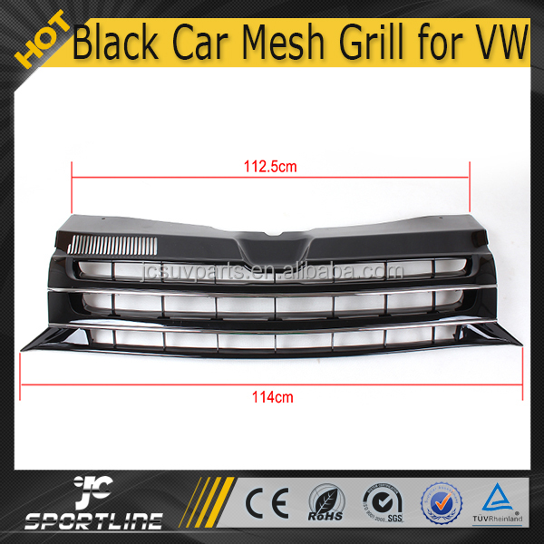 ABS Matt Black Front Car Mesh Grill for Volkswagen VW T5 Transporter 2010-2014