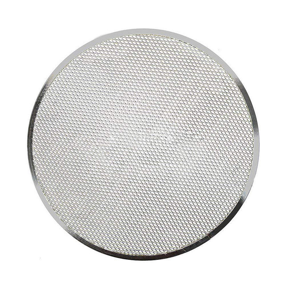 Aluminium Flat Mesh Pizza Screen Oven Baking Tray Net Non-Stick Pizza Screen Bakeware Cookware (10 inch,style 4)