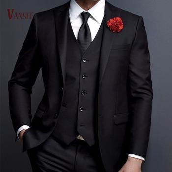 Gentlemen British Western Italy Style 3 Pieces Suits