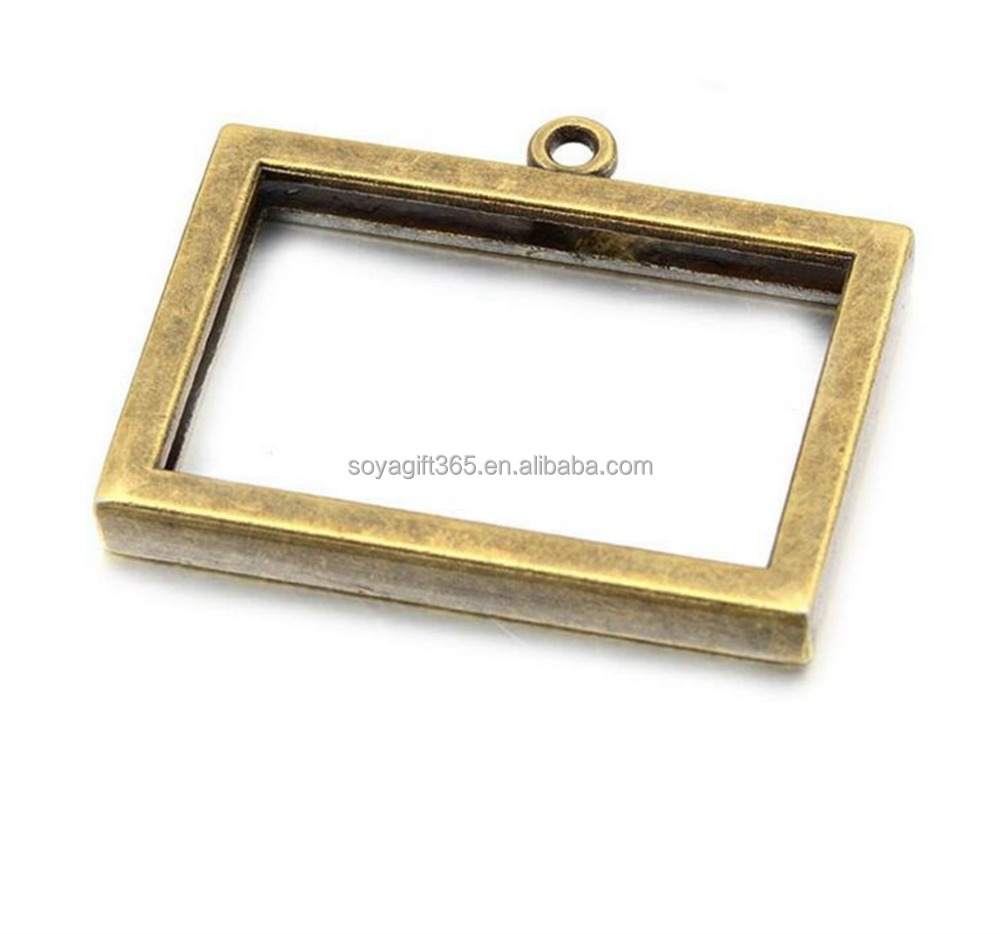 0pcs/lot DIY 18x28mm Photo Frame Blank Bezel Necklace Pendant Trays