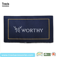 Textile Custom Woven Label As Decoration, Twill Damask Clothes Label