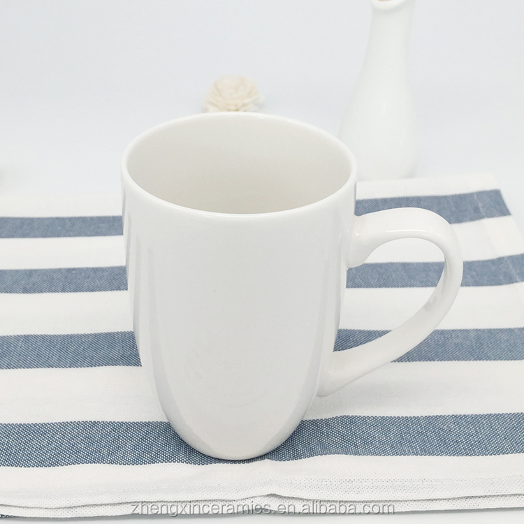 fancy Eco-friendly bulk sublimation round ceramic white mug 15 OZ