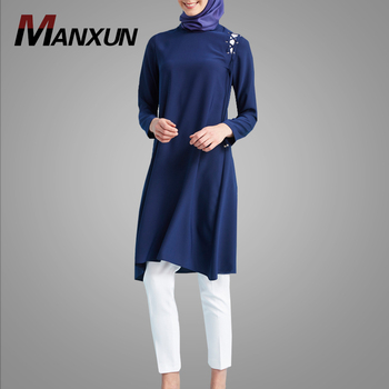 Pakistani Abaya Design Long Sleeve Muslim Top Simple Style Turkey Coat Elegant Islamic Casual Clothes
