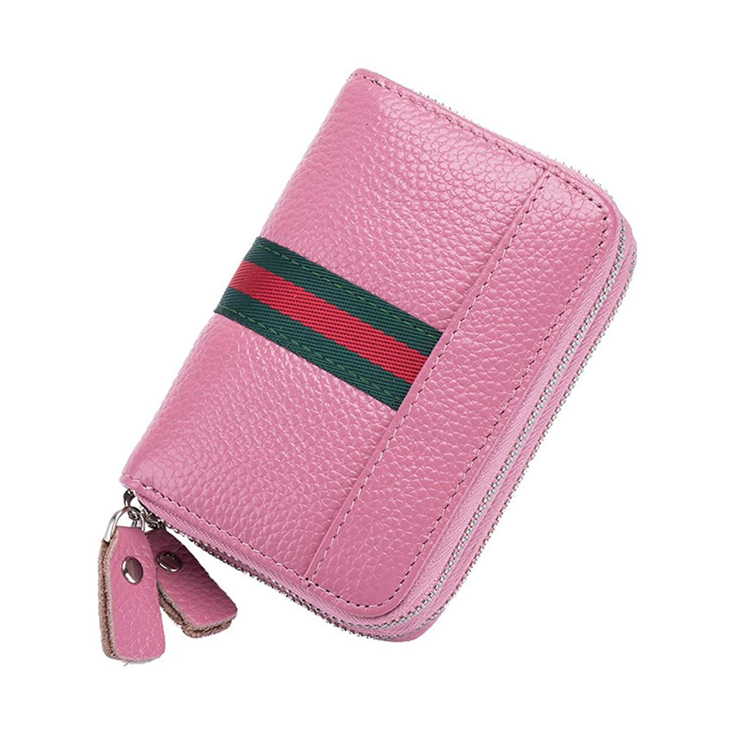 Get Quotations · MuLier RFID Blocking Womens Leather Card Holder Accordion  Style Card Case Wallet with 6 Key Hooks 2d22d3b9a0