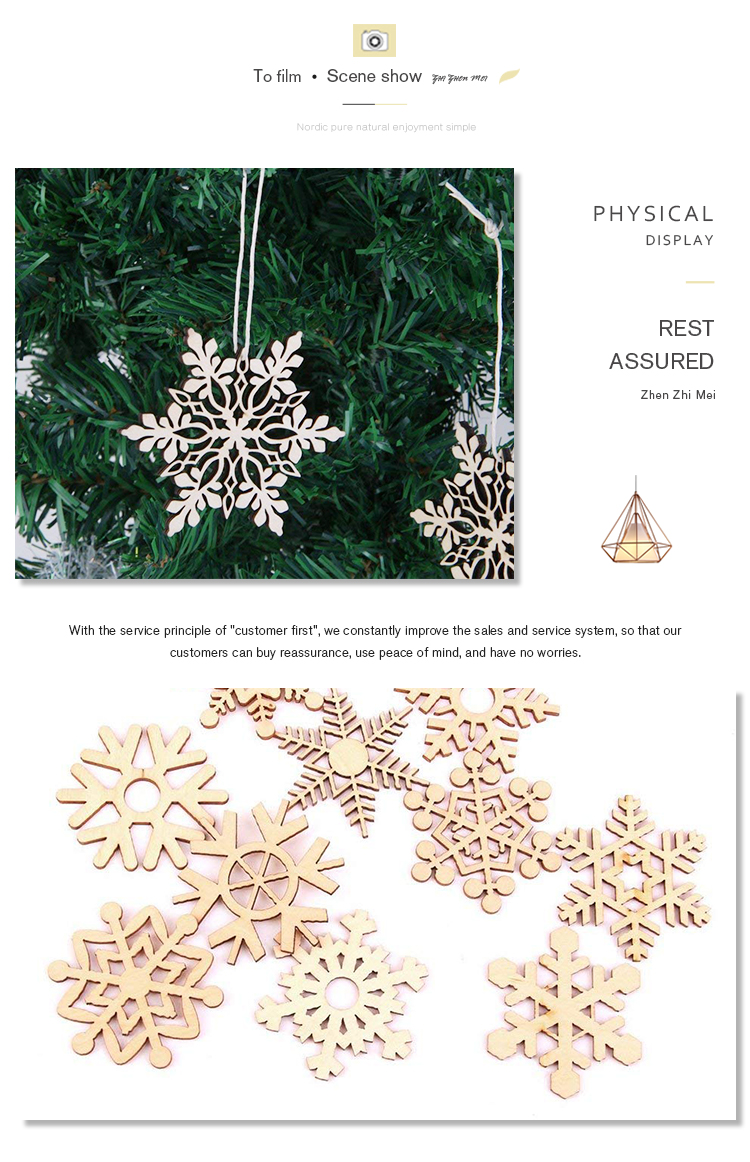 Special custom wooden christmas ornaments