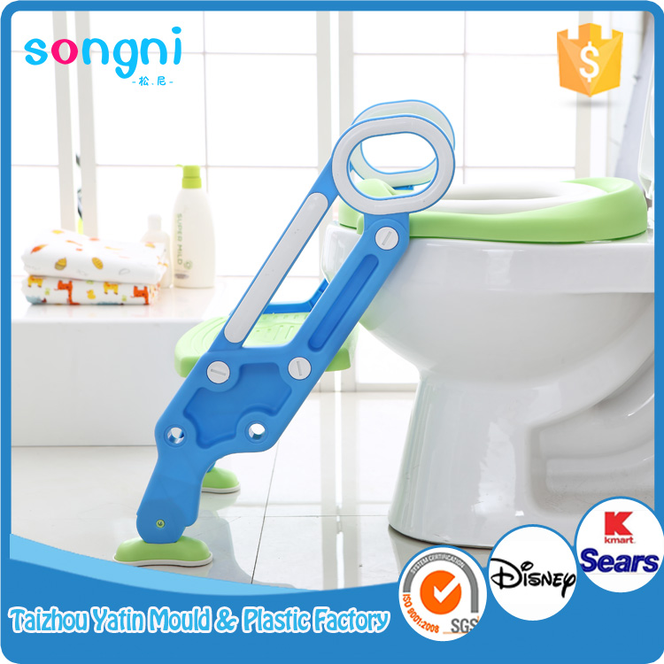 Clean Satety Portable Ladder Toilet Baby Potty Training Chair Plastic Toilet Seat for Children Baby
