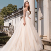 Backless beading wedding designers ball gown modern bridal dress