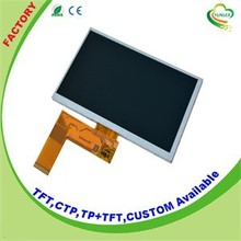 Cheap 7 inch lcd monitor with 800x480 dots for industry machine 2016