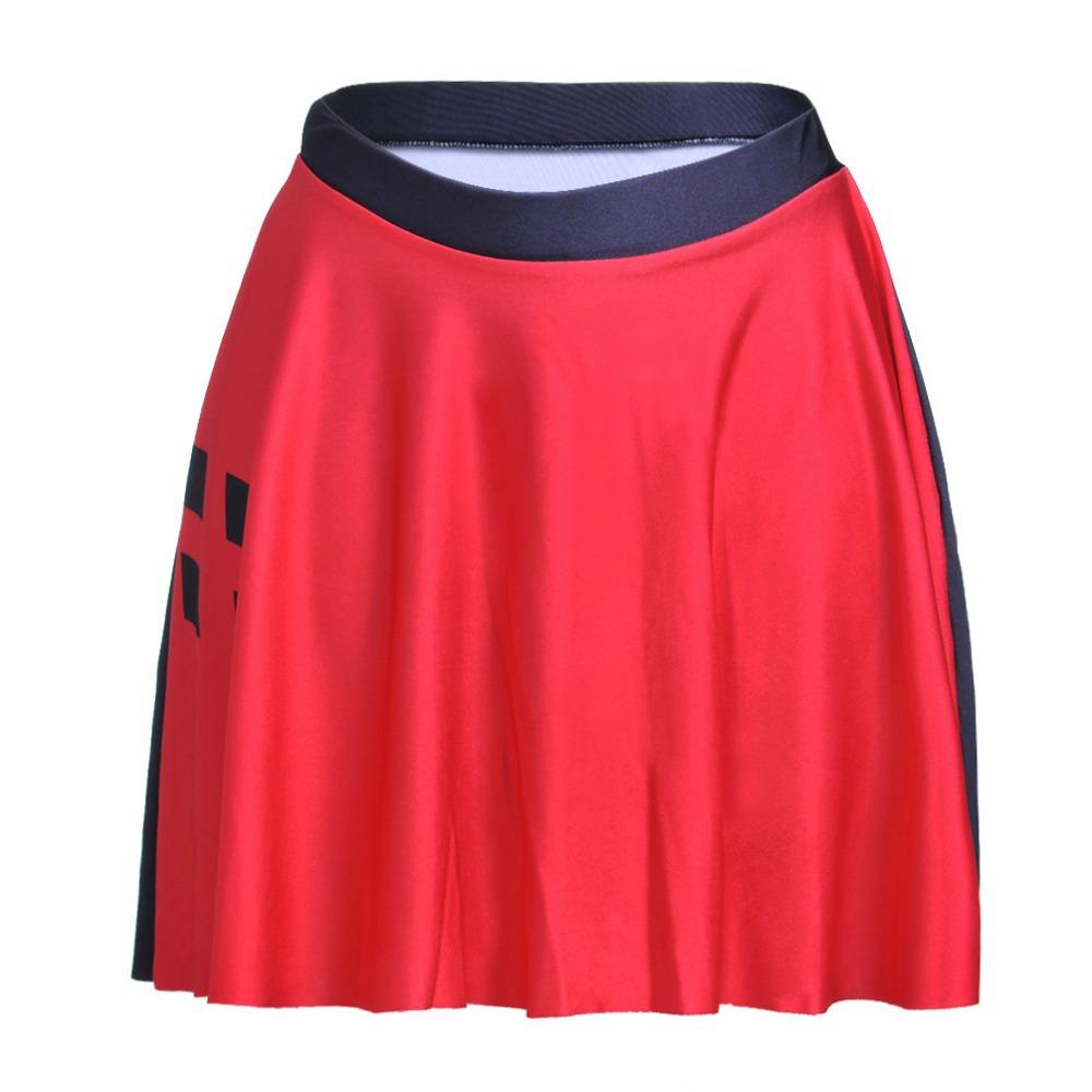 7b5dcd72f NEW STOCKING 2015 autumn Sexy Slim Women's Red & black Rhombus mini skirt  3D Digital Printing